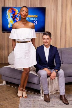 Jen Su and Thabo Maserumule swing by the loft this Thursday afternoon. November 2015, Peplum Dress, Presents, How To Wear, Dresses, Style, Fashion, Gifts, Vestidos