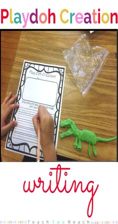 Students create something with Playdoh and then write about it. Freebie Alert!