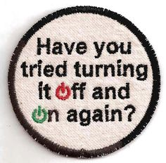 The IT Crowd Patch. 7.00, via Etsy.