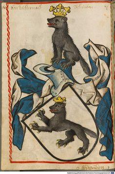 Scheibler'sches Wappenbuch Süddeutschland, um 1450 - 17. Jh. Cod.icon. 312 c  Folio 68
