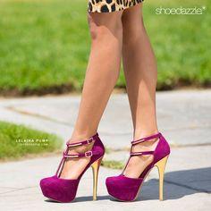 Lelaina purple heels