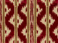 Brunschwig & Fils ZHEN VELVET RUBY 8012129.9 - Brunschwig & Fils - Bethpage, NY, 8012129.9,Brunschwig & Fils,Velvet,Red/Burgundy,S,Up The Bolt,Stripes,Upholstery,India,Yes,Brunschwig & Fils,No,Le Jardin Chinois,ZHEN VELVET RUBY