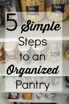 Whether you have a pantry or not these steps can help you have a pantry and keep it organized!