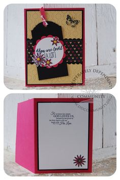 For we know how dearly God Loves Us... Rom. 5:5 Digital file by DesignVerses on Etsy used on the inside of card created with Stampin' Up! Grateful Bunch.