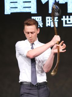 Tom Hiddleston attends 'Thor: The Dark World' press conference at Yintai Centre on October 11, 2013 in Beijing, China [HQ]