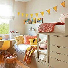 26 Adorable Kid Room Decor Ideas to Make Your Children's Space Fun - Di Home Design Girl Room, Girls Bedroom, Shared Rooms, Kids Room Design, Kid Beds, Bunk Beds, New Room, Room Inspiration, Room Decor