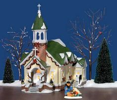 Image detail for -Department 56 The Original Snow Village Stone Steeple Church 56.