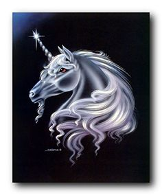 Impact Posters Gallery Horse Wall Home Decor Picture Framed Fantasy Moonwind Unicorn Sue Dawe Silver Art Print Unicorn Fantasy, Unicorn Horse, Unicorn Art, Unicorn Images, Unicorn Pictures, Black Art, Pegasus, Unicorn Poster, Beautiful Unicorn