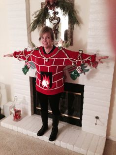 Christmas Dress Up, Christmas Sweaters, Dresses, Fashion, Christmas Clothes, Vestidos, Moda, Fashion Styles, Christmas Jumper Dress