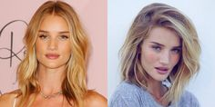 Another day, another lob. Hairstylist George Northwood just posted an Instagram pic of his latest handiwork on the gorgeous Rosie Huntington-Whiteley, who yes, just chopped her hair into a Kim Kardashian-esque long bob. We keep seeing this look again and again, but somehow it just doesn't get old.   - ELLE.com