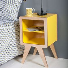 space bedside table by obi furniture | notonthehighstreet.com