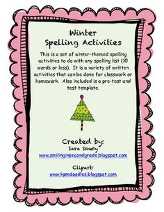 Templates to use for spelling