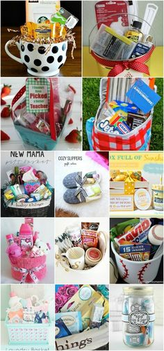 30 Easy And Affordable DIY Gift Baskets For Every Occasion - I love making my own gifts dont you? I mean I love everything about it even creating my own gift baskets. Ive been making gift baskets for a while and they are normally a huge hit. Homemade Gift Baskets, Diy Gift Baskets, Christmas Gift Baskets, Making A Gift Basket, Gift Basket Ideas, Creative Gift Baskets, Candy Gift Baskets, Raffle Baskets, Homemade Toys
