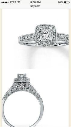 Trendy Diamond Rings Kay Jewelers Princess Cut Engagement Ring