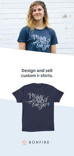Original design chevron team spirit t shirts by the for Custom t shirts no minimum order