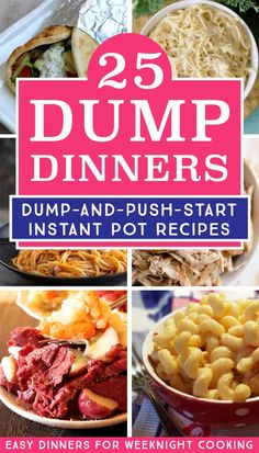 25 Delicious Instant Pot Dump Dinners for Easy Weeknight Meals - Fun Loving Families Make dump recipes is the easiest way to cook dinner with your electric pressure cooker. I love using my Instant Pot to make these easy dinner recipes for busy weeknights. Best Instant Pot Recipe, Instant Pot Dinner Recipes, Easy Dinner Recipes, Instant Pot Meals, Dessert Recipes, Dump Dinners, One Pot Dinners, Freezer Meals, Low Carb Brasil