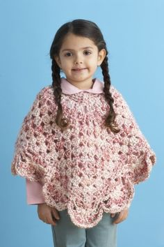 letsjustgethooking : FREE PATTERN   Girl's Poncho DISCLAIMER  First and...