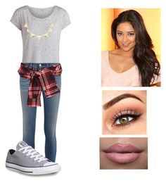"""""""Pretty Little Liars Outfit for Emily Fields❤️"""" by victoriamajors ❤ liked on Polyvore featuring Pieces, rag & bone, Converse, Charlotte Russe and David Szeto"""