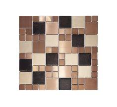 Metallic Random Copper Mix Mosaic | Topps Tiles