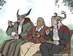 This should not as funny as i think it is. Dragon Age - Iron Bull, Sten, The Arishok