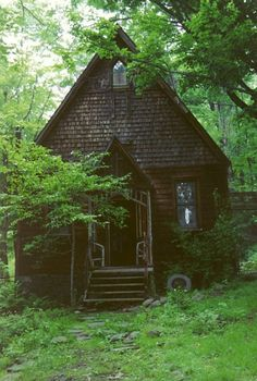 This is the type of place i imagined raising my son while i was pregnant:) off n a cottage in the woods where he could run wild!