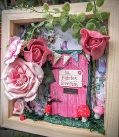 Fairy Frame Fairy Garden Scene Box Frame Secret by MerryElfmas
