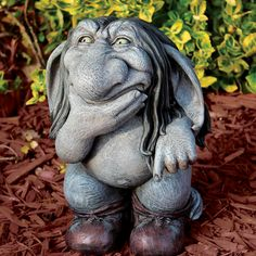 Design Toscano Pondering Sylvester, the Cynical Gnome Troll Statue & Reviews | Wayfair