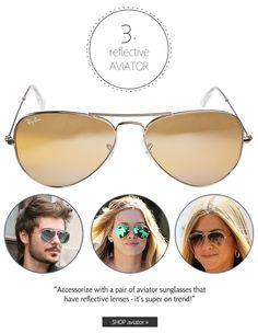 Reflective Wayfarer | Summer 2013 Sunglasses Trends: Make a Statement | The Look | Coastal.com | #theLOOK