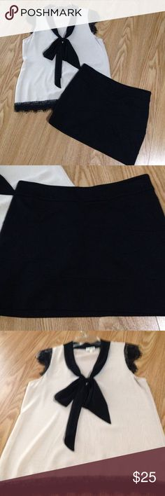 """Sexy mini skirt sexy black mini skirt, size 4 excellent condition, 14"""" in length Express Skirts Mini"""