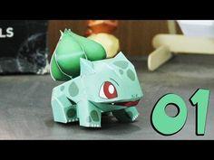 Pokemon - How to make papercraft Bulbasaur - part 1 - YouTube