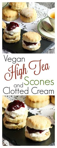 The Best Vegan Scones & Clotted Cream | The Vegan Larder Who doesn't love a freshly baked scone? These adorable and delicious ones happen to be 100% vegan (the cream is too) , these yummy afternoon tea treats can be made ahead too!
