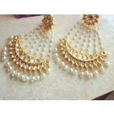 Elegant Jhoomer Gold Plated Big Danglers
