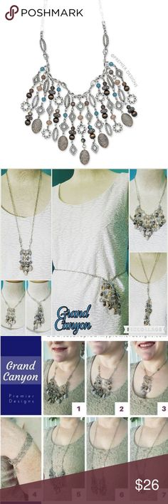 Premier Designs Grand Canyon necklace Multiple ways to wear Jewelry Necklaces