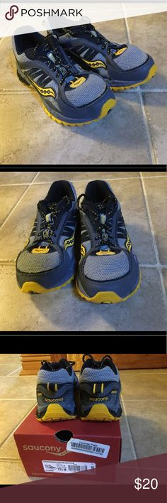 Boy's Saucony Sneakers Grey/black/yellow boy's Saucony sneakers in EUC.  Worn a handful of times. Saucony Shoes Sneakers
