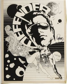Original cover art by Jim Steranko from Comic Crusader #13, a fanzine published by Martin L. Greim, 1972.