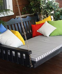 Look at this #zulilyfind! Black Royal English Porch Swing Bed by A&L Furniture #zulilyfinds