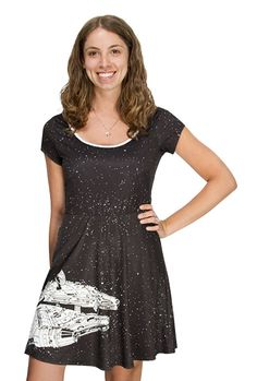 Millennium Falcon Ladies A-line Dress