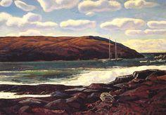 Rockwell Kent Alaska | Rockwell Kent / Rockwell Keny, Monhegan Harbor, c. 1950