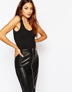 Missguided Scoop Back Rib Body