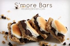 Fan-Freaking-Tastic S'more Bars ~ http://reallifedinner.com