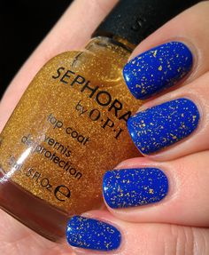 nails inc Baker Street and Sephora by OPI It's Real 18kt Gold top coat, plus awesome giveaway!