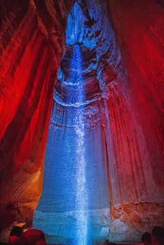 Cave and Falls   Ruby Falls