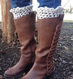 Looking Spiffy Crochet Boot Toppers pattern by Kristi Greeson