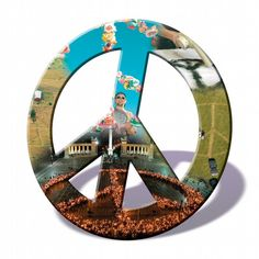 "The peace symbol - the famous circle with three lines in the center - made its debut on a wet, chilly Good Friday - April 4, 1958 - in London's Trafalgar Square, where thousands gathered to support a ""ban the bomb"" movement."