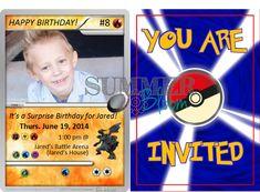Pokeventure Birthday Ticket Invitation Pokemon By DigiCreationsStudio
