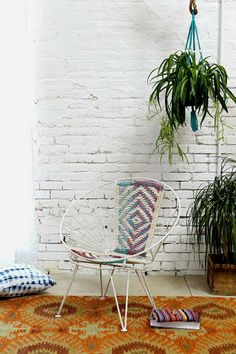 Urban Outfitters Magical Thinking Woven Wire Chair Macrame Chairs, Wire Chair, Apartment Furniture, Porch Furniture, Apartment Ideas, Furniture Ideas, Magical Thinking, Coaster Furniture, Butterfly Chair