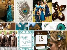 what looks good with teal? i have no time to decide :  wedding color wedding preparation scheme teal aqua jade blue green 14 3