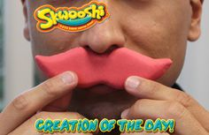 Skwooshi Creation of the Day #mustache #art #mold #sculpture #sculpt #play #toys  Join the fun on Facebook for exclusive giveaways https://www.facebook.com/Skwooshi