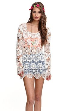 Black Poppy All Over Crochet Tunic Dress at PacSun.com Poppy Dress bd2efa64d5a