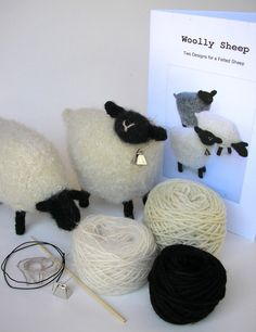 Wool Sheep Knitting Pattern and Kit
